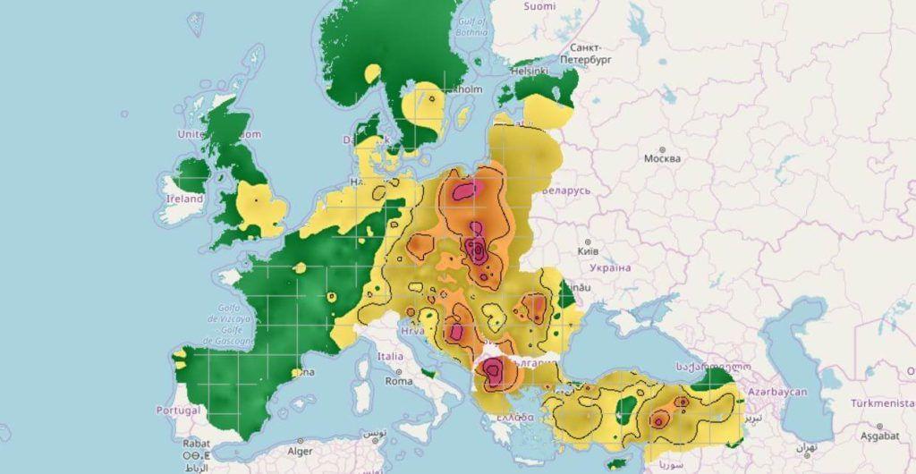 Costa Blanca Mapa jakości powietrza - Pogoda, klimat, czyste powietrze