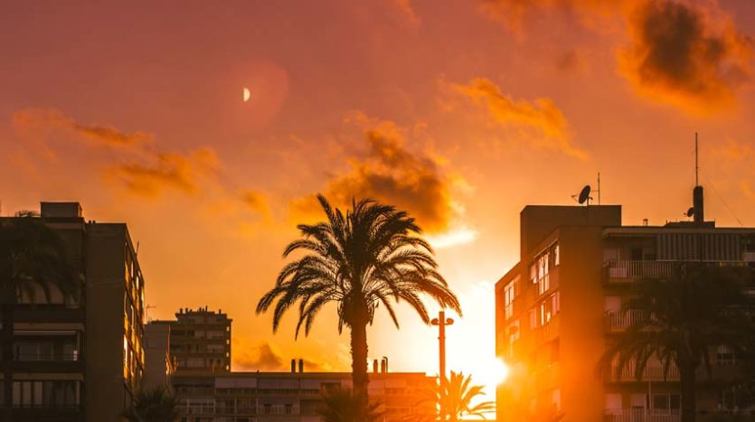 Zachód słońca w Alicante